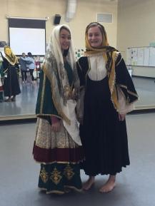 Traditional Greek dance Garb